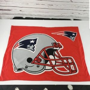 "NFL Patriots football red pillow sham 30"" by 22"""